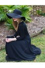 Black-wool-target-hat-black-chiffon-the-limited-shirt