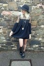 Black-topshop-boots-black-oh-my-love-dress-black-h-m-hat
