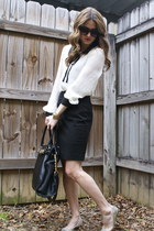 black Michael Kors bag - off white Forever 21 blouse