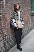 material girl coat - lita Jeffrey Campebll shoes - knit Gap sweater