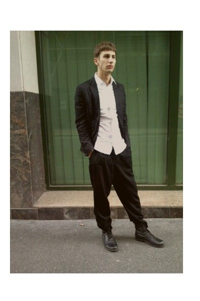 DIY shirt - H&M Trend shirt - pull&bear shoes - second hand pants - H&M suit