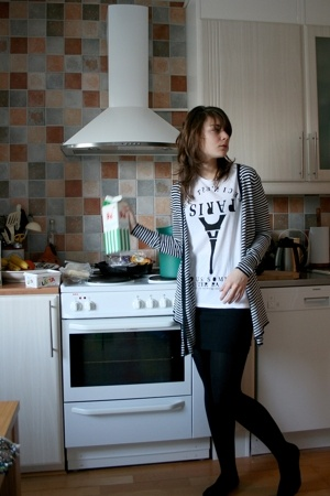 Zara sweater - weekday t-shirt - Monki skirt