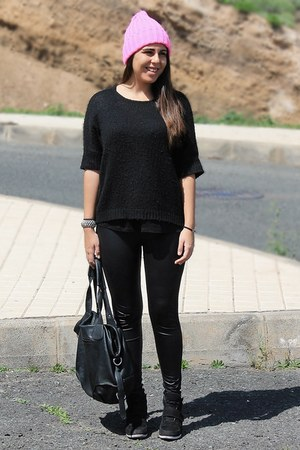 black Primark sweater - bubble gum Born Pretty Store hat