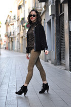 black Choies jacket - black suede Mango boots