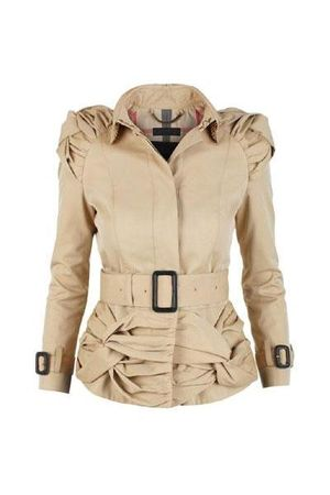 beige Burberry jacket - black - black