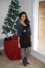 Gray-h-m-cardigan-black-h-m-dress-black-zara-belt-gray-stockings-blue-bo