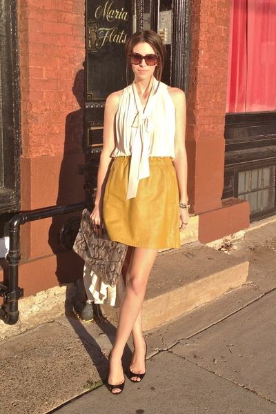 naked zebra top - Target bag - Gap sunglasses - JCrew pumps - vintage skirt