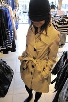 beige H&M coat - H&M hat