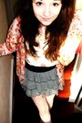 Pink-h-m-cardigan-pink-topshop-top-black-h-m-skirt-white-topshop-tights
