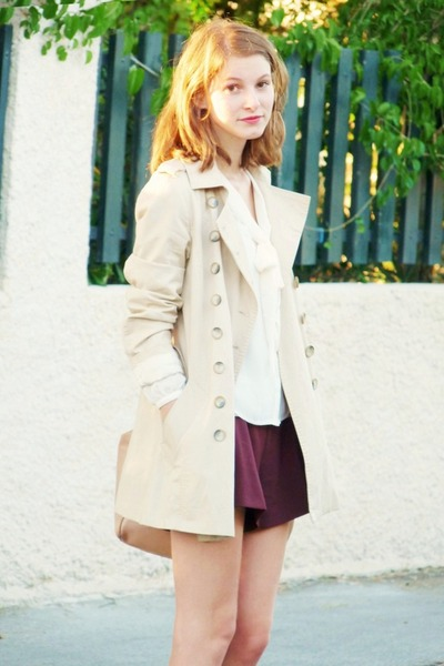 trench Zara coat - asos shorts - H&M blouse