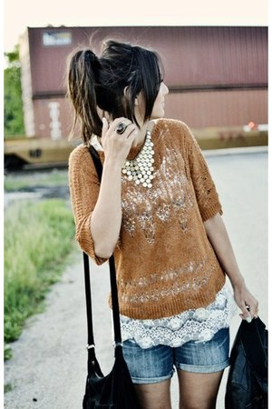 studded clogs Steve Madden clogs - crochet Anthropologie sweater
