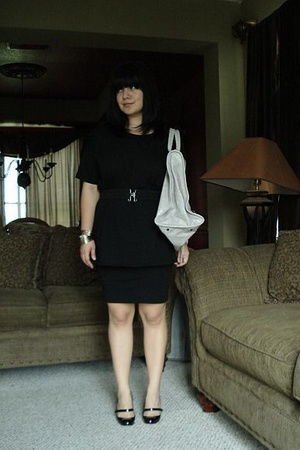 American Apparel shirt - American Apparel dress - Christian Louboutin shoes - ba