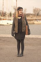 black La Redoute shoes - olive green Forever 21 jacket - black La Redoute skirt