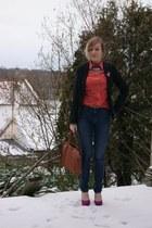 H&M jeans - H&M blazer - Babassu Fashion shirt - vintage bag - H&M heels