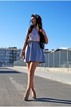 Zara skirt - Sfera hat - cortefield shirt - BLANCO bag