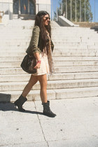 suiteblanco bag - Zara boots - Lefties dress - Mango blazer