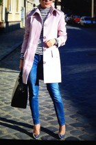dusty pink H&M coat