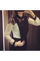 pinafore Topshop bodysuit - lace Primark shirt