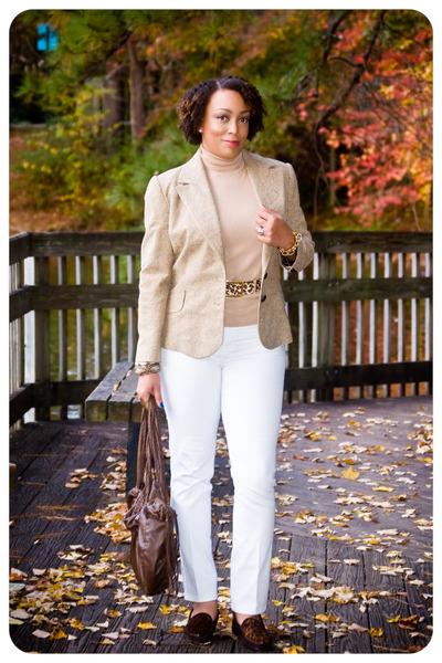 handmade jacket - nydj jeans - Urban Outfitters purse - stuart weitzman loafers