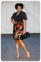 handmade skirt - clutch The Limited purse - handmade blouse - DSW pumps