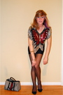 Silver-blouse-black-nordstrom-tights-blue-gucci-purse-black-urban-outfitte