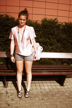 unknown blouse - jeffrey cambell shoes - shorts