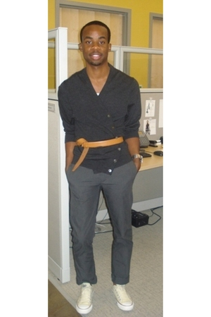 Brooks Brothers sweater - Uniqlo belt - Michael Kors accessories - H&M pants - C