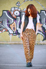 Leopard-print-zara-pants-black-h-m-vest-white-new-yorker-t-shirt