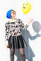 mickey mouse Primark sweater - black fake leather tally weill skirt