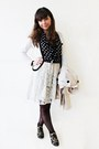 White-lace-thecoloris-dress-cream-trench-stradivarius-coat