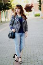 Periwinkle-lanidor-jeans-black-tribal-print-poppylux-jacket