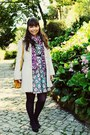 Sky-blue-flowers-kristines-collection-dress-cream-scalloped-primark-coat
