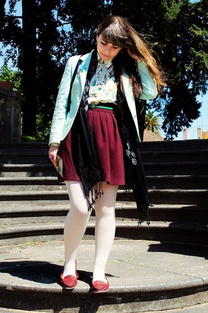 aquamarine Pied Poule blazer - white Primark tights