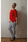 Red-zara-jumper-vila-pants