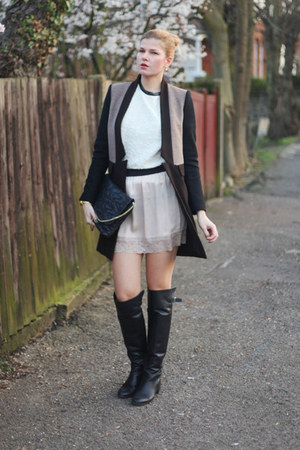 Zara boots - Redlabel top - Topshop skirt