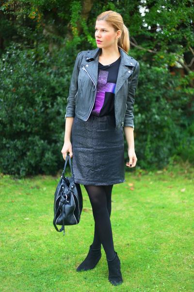 Swagga & Soul jacket - Francesco Biasia bag - Zara skirt