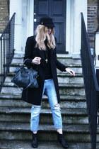 sam edelman boots - Zara coat - balenciaga bag