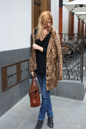 Mango coat - Oasis boots - Mulberry bag - next top - All Saints accessories