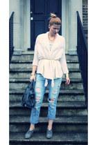 Zara jeans - Peacocks boots - balenciaga bag - Zara cardigan