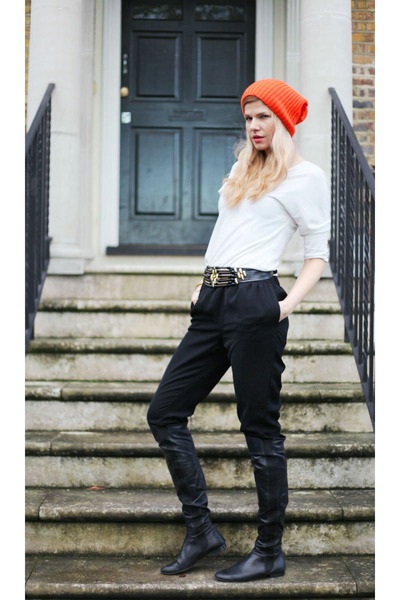 Oasis boots - Zara top - H&M pants