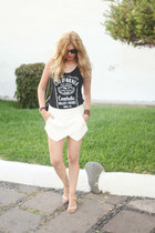 brandy melville top - Chanel bag - Zara shorts