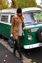 Mango coat - Kurt Geiger boots - balenciaga bag - H&M shorts