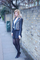 Oasis jacket - Christian Louboutin shoes - Zara vest - Zara skirt
