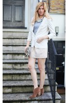Report shoes - H&M blazer - D&G bag - Zara skirt