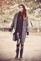 dark gray asos coat - Primark leggings