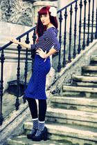dots Primark skirt - stripes H&M shirt - black polka dots Forever 21 heels