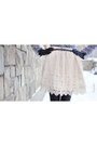 Ivory-lace-tina-r-skirt-silver-mango-sweater-oasap-bag