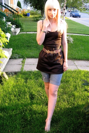 Urban Outfitters dress - vintage belt - Home made shorts