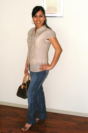 Jacob blouse - Mudd jeans - Marc by Marc Jacobs shoes - Louis Vuitton purse