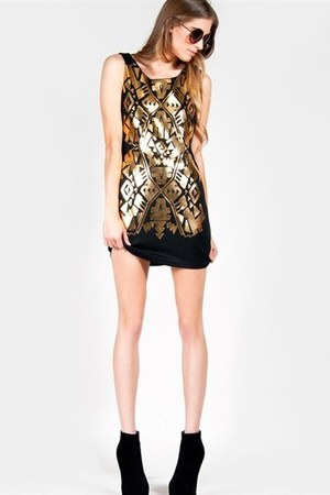 gold mirror ZooShoo dress